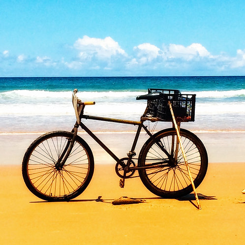 Bicicleta e o mar