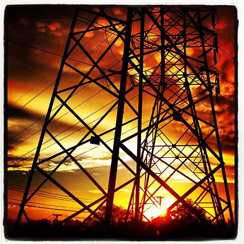 Torres no pôr do sol