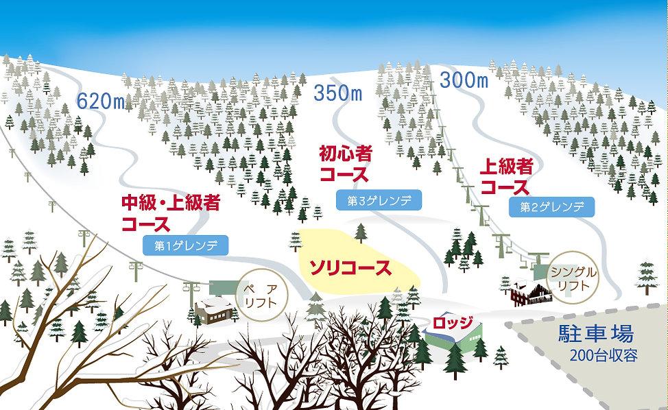 石狩平原スキー場コース