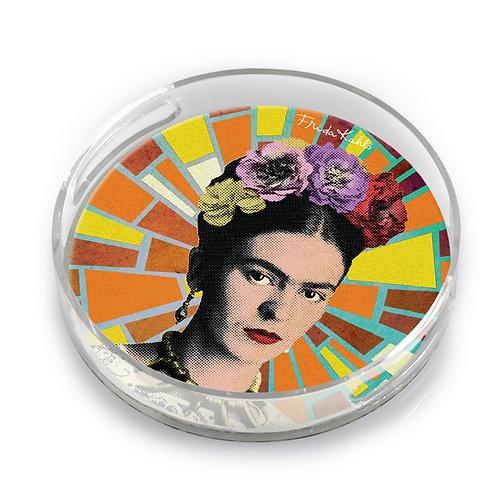 Frida Round Lucite Tray - F5581