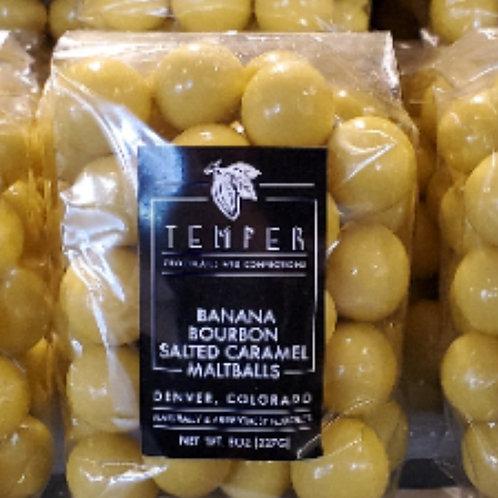 Banana Bourbon Salted Caramel Maltballs