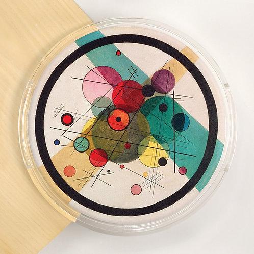 Round Lucite Tray - 5551S