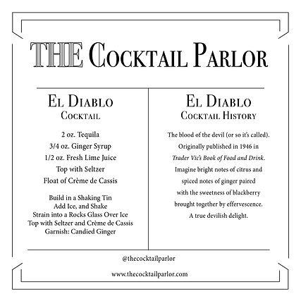 El Diablo Cocktail Candle Card