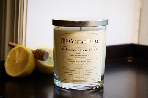 Bee's Knees Cocktail Candle