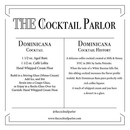 Dominicana Cocktail Candle Card