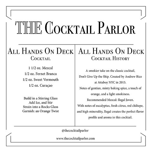 All Hands On Deck Cocktail Candle