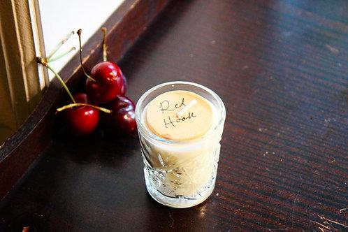 Shot Glass Tealight; Red Hook