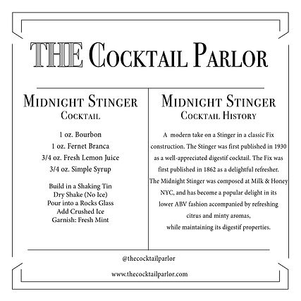 Midnight Stinger Cocktail Candle Card