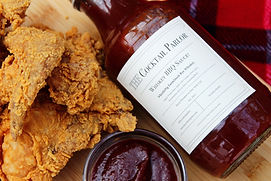 Whiskey BBQ Sauce and Fried Chicken