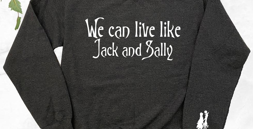 Jack And Sally Crew Neck Sweater