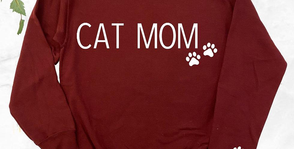 Cat Mom Crew Neck Sweater