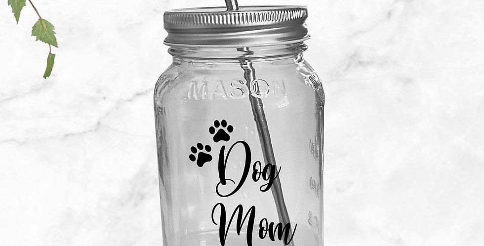 Dog Mom Mason Jar Tumbler
