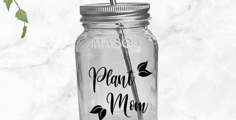 Plant Mom Mason Jar Tumbler