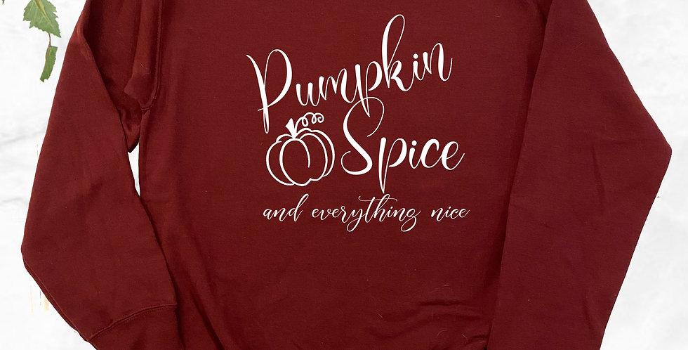 Pumpkin Spice Crew Neck Sweater