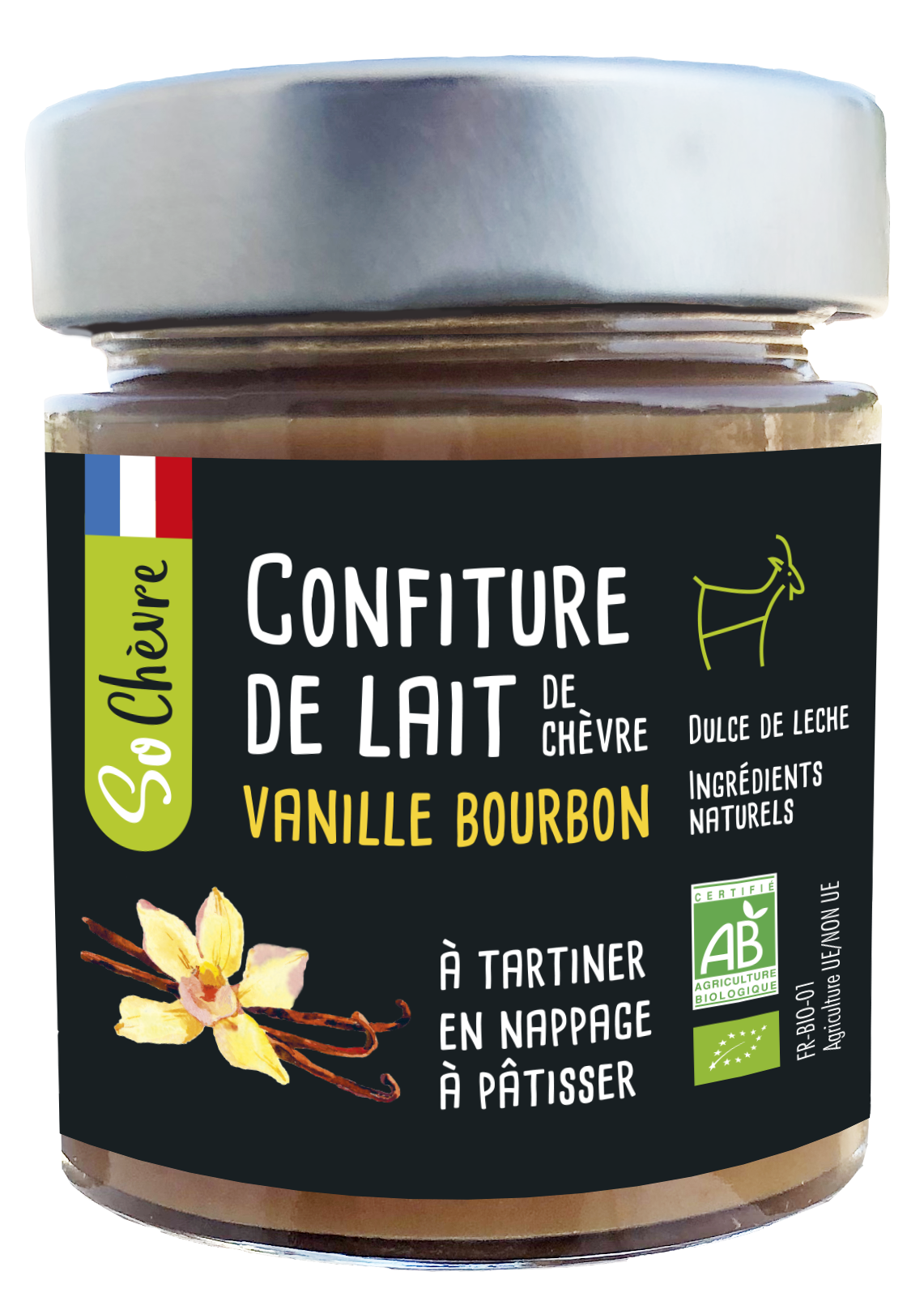 Confiture de lait So Chèvre vanille 180g