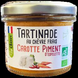 Tartinade carotte piment