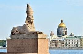 Сфинксы на Университетской набережной Сакнт-Петербург