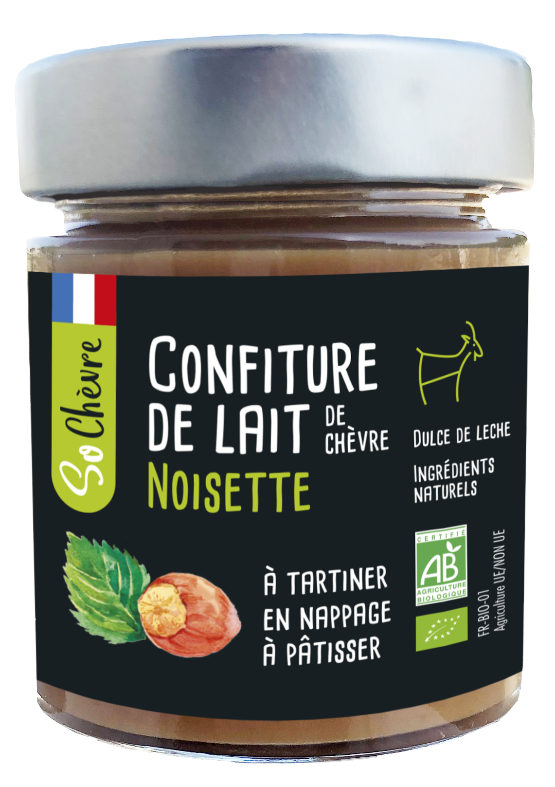 Confiture de lait So Chèvre noisette 180