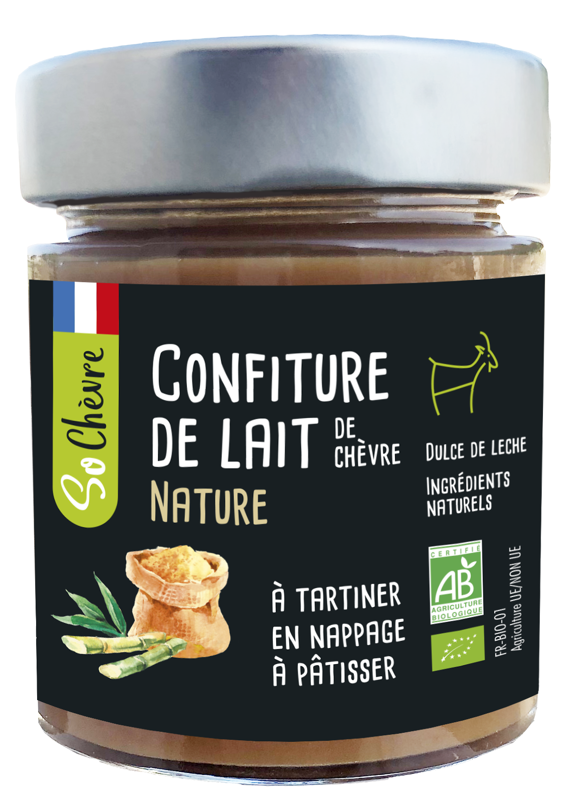 Confiture de lait So Chèvre nature 180g
