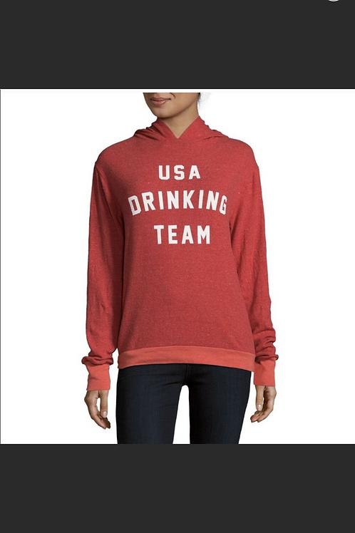 Wildfox USA DRINKING TEAM Graphic Hoodie