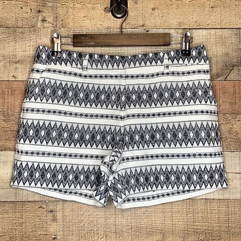 Artisan NY Black & White Boho Print Shorts