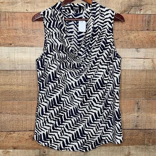 Threads Black & White Chevron Sleeveless Top