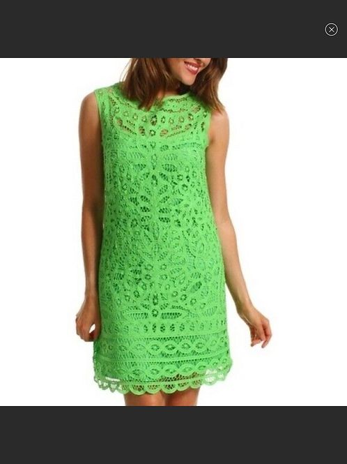 Lily Pulitzer Green Battenburg Lace Tabitha Dress
