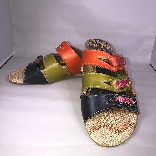 Elite by Korkys | Sunny Colorful Leather Sandals