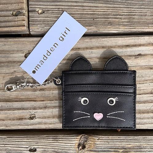 NWT Madden Girl Black Cat Card Case