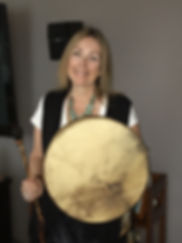 Shaman Carmen with Drum