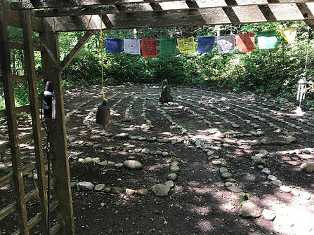 Shaman Retreat labyrinth for self discovery