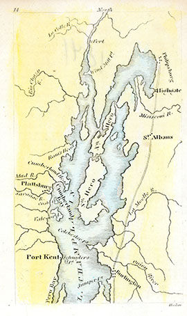An early map of the Lake Champlain Basin