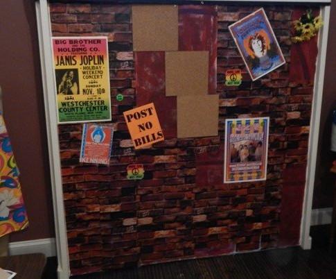 1968 Exhibit area displayingTie Dye and Posters