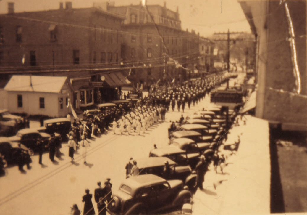 Parade on Montcalm St 1933