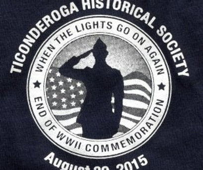 """T-shirt """"when the lights go on again"""" WWII Commemoration event"""