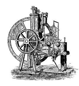 An early steamboat engine
