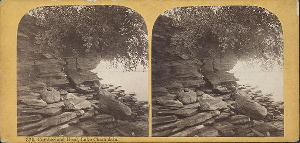 Stereoscopic Image og Cumbeland Head, Lake Champlain
