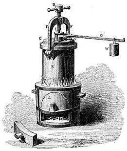 Early Pressure Cooker called the Papin Digester