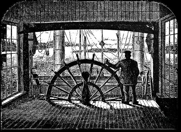 Steamboat Captain Illustration