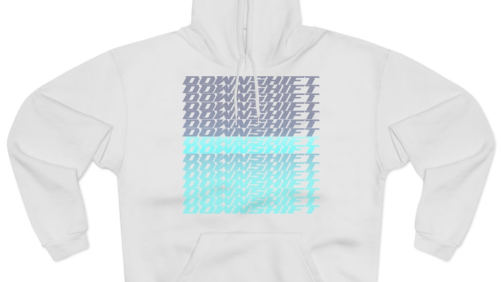 Downshift Blue Repeating Hoodie