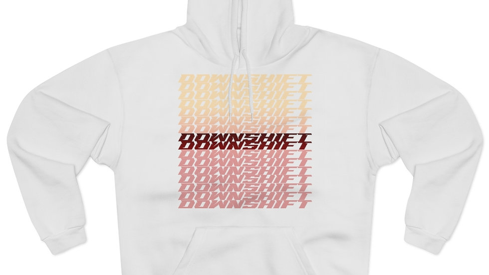 Downshift Red Repeating Hoodie