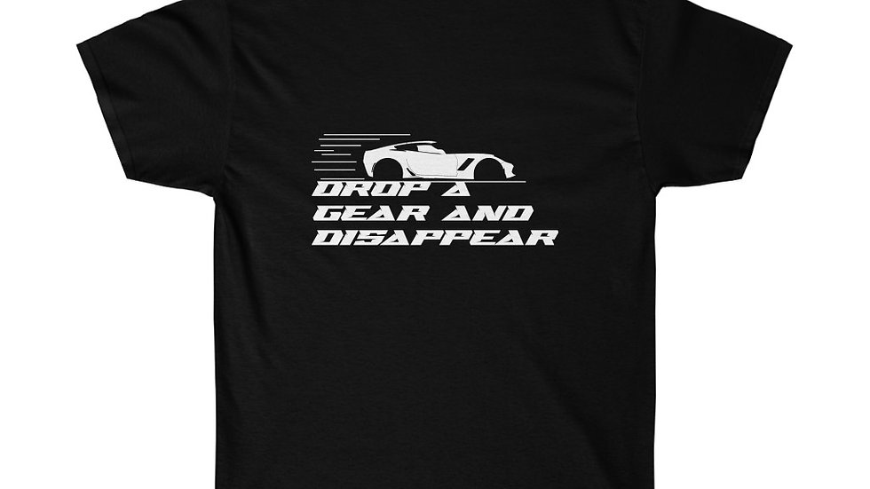 Downshift 'Drop A Gear And Disappear' Tee's