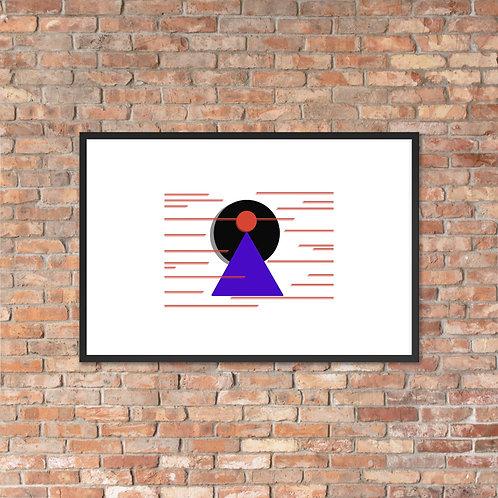 Finding Focus Framed matte paper poster