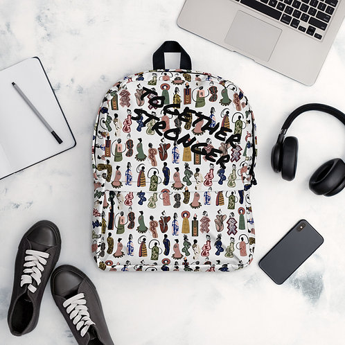 Abstract Society Together Stronger Backpack