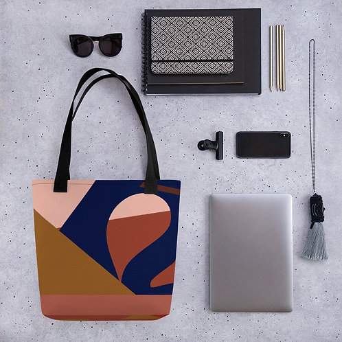 Mauve Abstractions Tote Bag