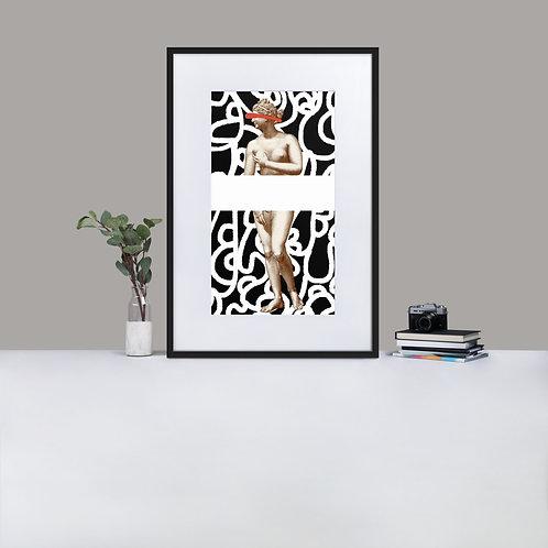 Whiteline Venus Framed Print With Mat