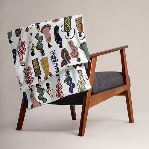 Abstract Society Throw Blanket