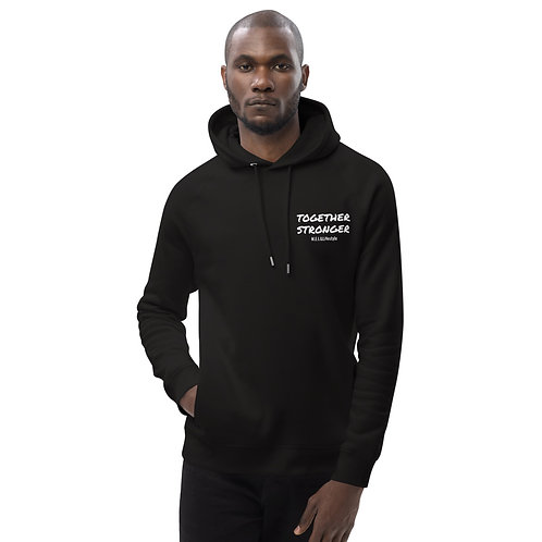 Together Stronger black unisex pullover hoodie