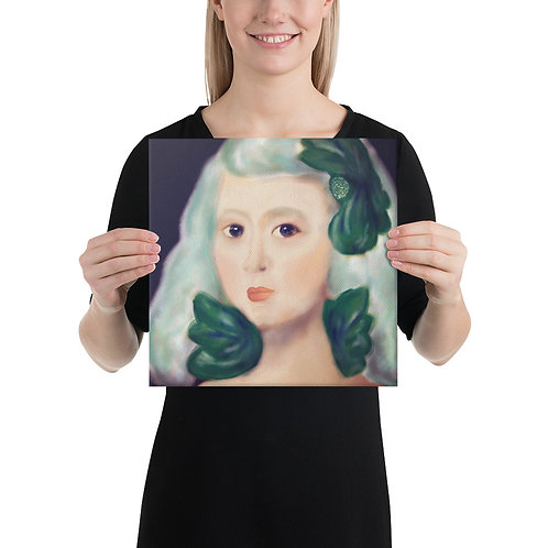 Spanish Lady On Canvas