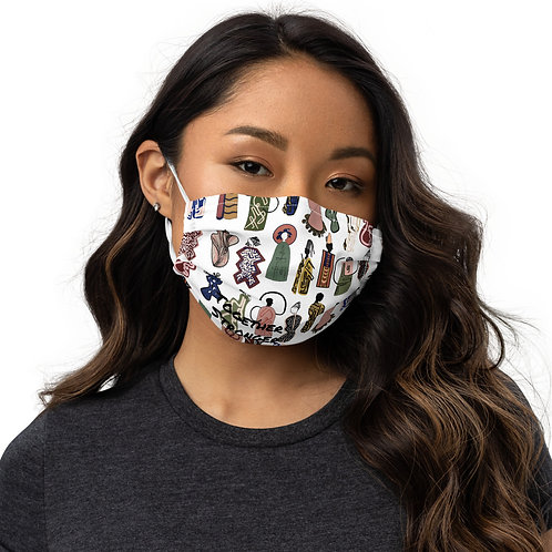 Abstract Society Together Stronger Face mask